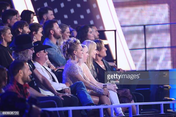 Carrie Underwood Keith Urban and Nicole Kidman attend the 2017 CMT Music Awards at the Music City Center on June 7 2017 in Nashville Tennessee