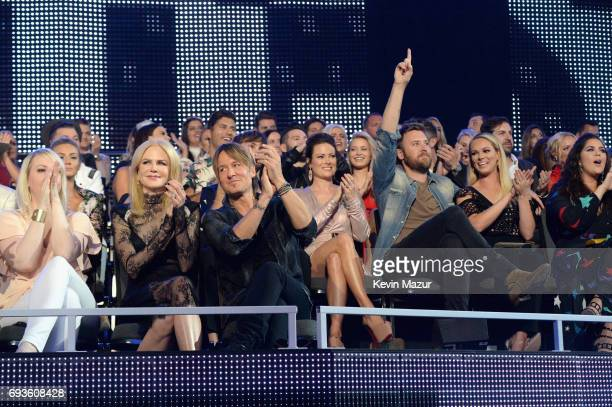 Carrie Underwood Nicole Kidman Keith Urban and Charles Kelley attend the 2017 CMT Music Awards at the Music City Center on June 7 2017 in Nashville...