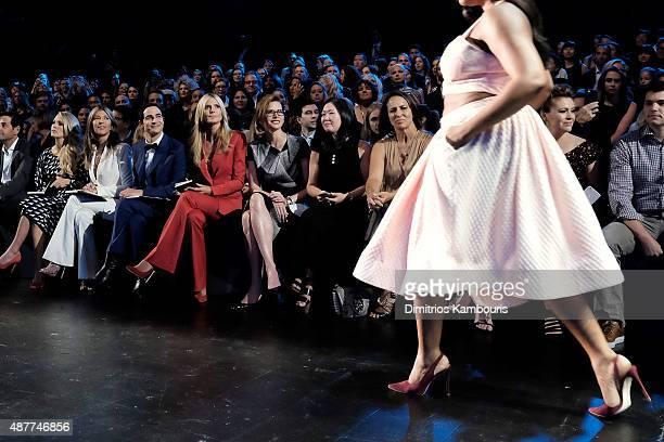 Carrie Underwood Nina Garcia Zac Posen Heidi Klum and Desiree Gruber attend Project Runway fashion show during Spring 2016 New York Fashion Week The...