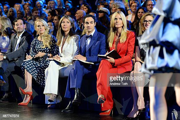 Carrie Underwood Nina Garcia Zac Posen Heidi Klum and Desiree Gruber attend Project Runway Front Row Backstage Spring 2016 New York Fashion Week The...