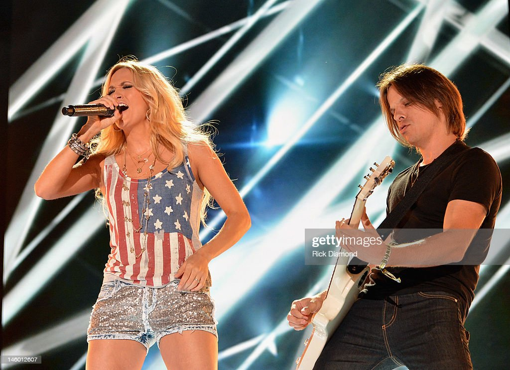 Carrie Underwood performs during the 2012 CMA Music Festival Day 2 at LP Field on June 8 2012 in Nashville Tennessee