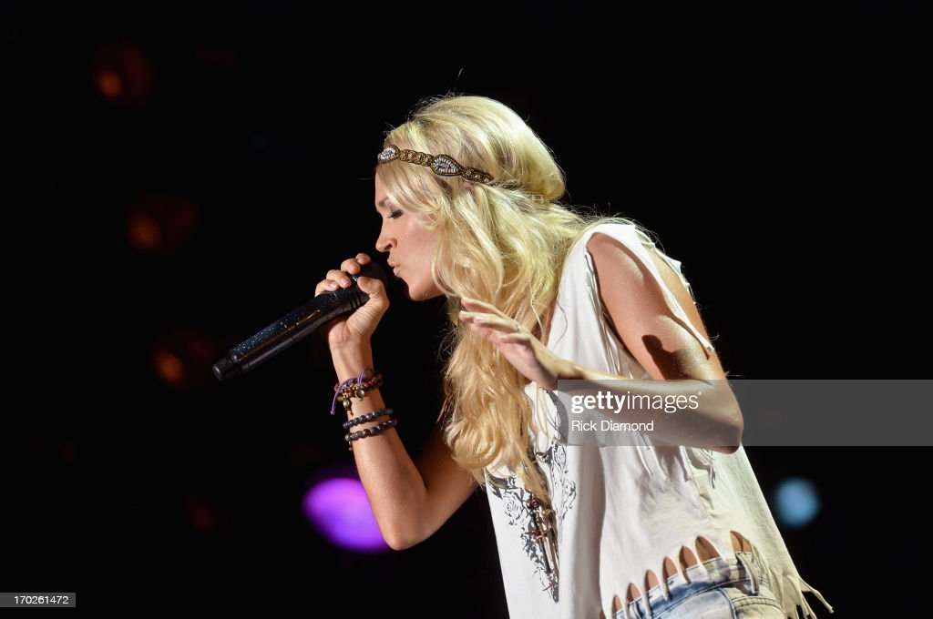 Carrie Underwood performs during the 2013 CMA Music Festival on June 9, 2013 in Nashville, Tennessee.