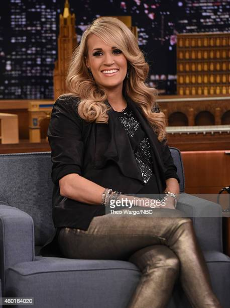 Carrie Underwood Visits 'The Tonight Show Starring Jimmy Fallon' at Rockefeller Center on December 8 2014 in New York City