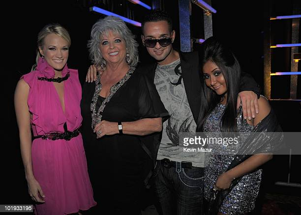 Carrie UnderwoodPaula Dean Mike Sorrentino 'The Situation' and Nicole Polizzi 'Snooki' attend the 2010 CMT Music Awards at the Bridgestone Arena on...