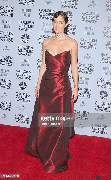 CarrieAnn Moss in the press room at the 2001 Golden Globe awards