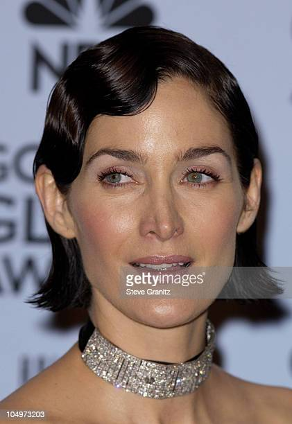 CarrieAnne Moss at the 59th Annual Golden Globe Awards January 20 2002 at the Beverly Hilton in Beverly Hills California