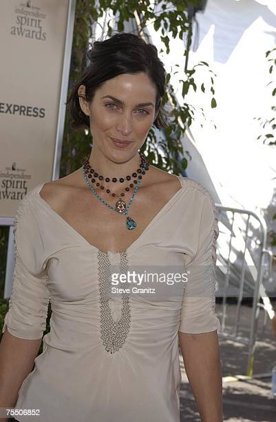 CarrieAnne Moss at the Santa Monica Beach in Santa Monica California