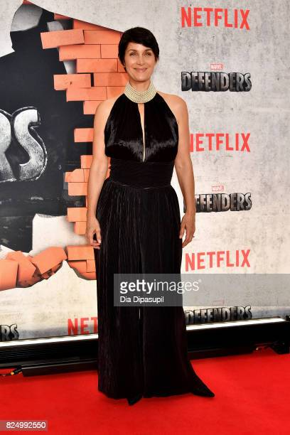 CarrieAnne Moss attends the 'Marvel's The Defenders' New York Premiere at Tribeca Performing Arts Center on July 31 2017 in New York City