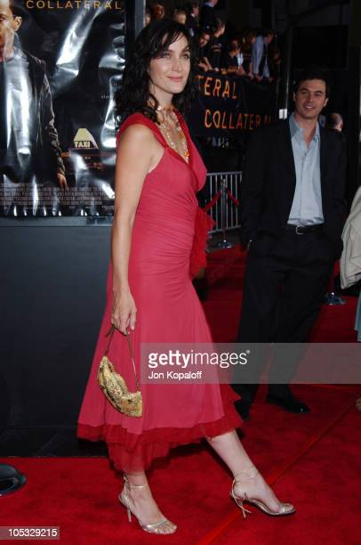 CarrieAnne Moss during 'Collateral' Los Angeles Premiere Red Carpet at The Orpheum Theatre in Los Angeles California United States