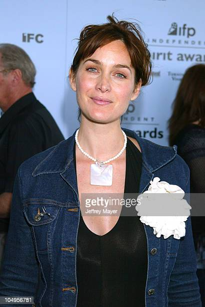 CarrieAnne Moss during The 18th Annual IFP Independent Spirit Awards Arrivals at Santa Monica Beach in Santa Monica California United States
