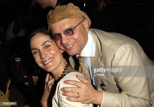 CarrieAnne Moss Joe Pantoliano during The 17th Annual IFP/West Independent Spirit Awards Audience at Santa Monica Beach in Santa Monica California...