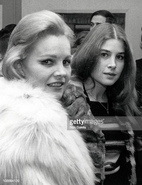 Carroll Baker and daughter Blanche Baker during 'Pumping Iron' New York City Premiere After Party at US Steak House in New York City New York United...