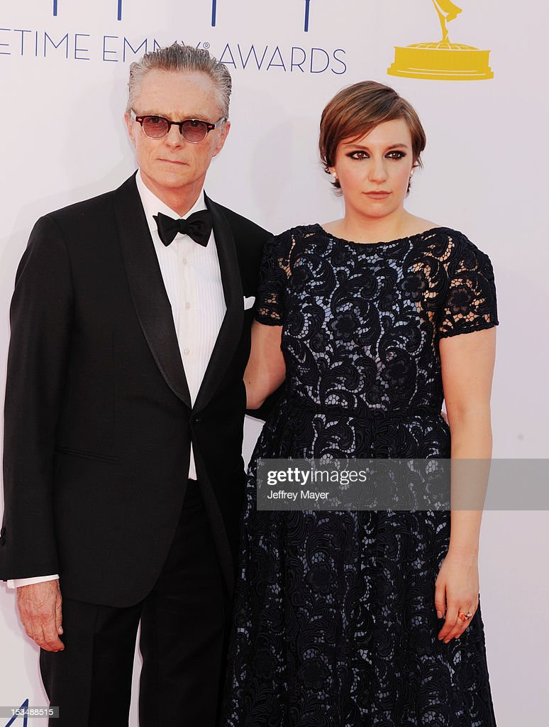 Carroll Dunham and Lena Dunham arrive at the 64th Primetime Emmy Awards at Nokia Theatre L.A. Live on September 23, 2012 in Los Angeles, California.