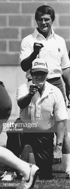 MAY 10 1984 MAY 11 1984 Carroll Hardy and Dan Reeves time agility of rookies