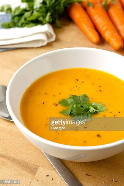 Carrot und Koriander-Suppe