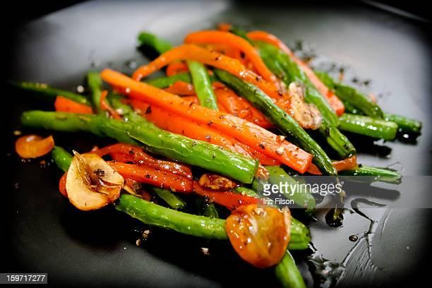 Carrot And Green Beans Stir Fry