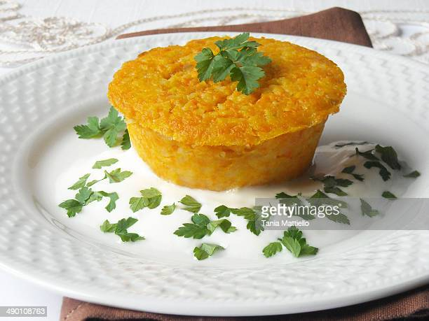 Carrot and potato flan