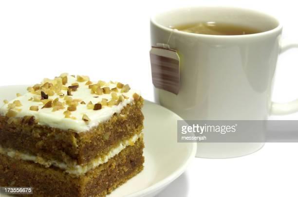 Carrot cake and some tea