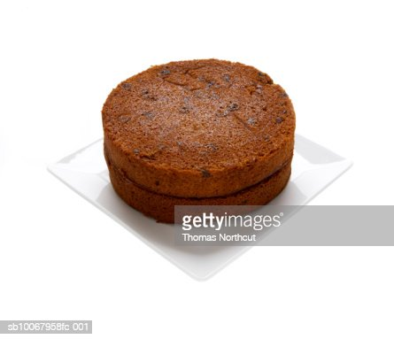 Carrot cake on white background : Stock Photo