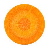 Carrot portion on white