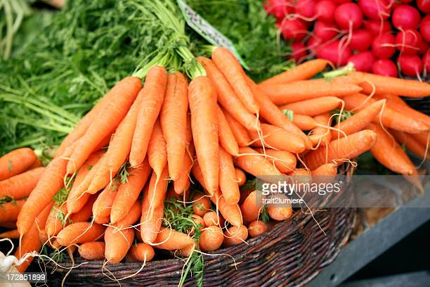 Carrots at a farmers market