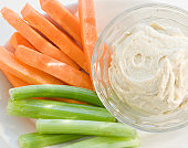 Carrots, Celery and Hummus