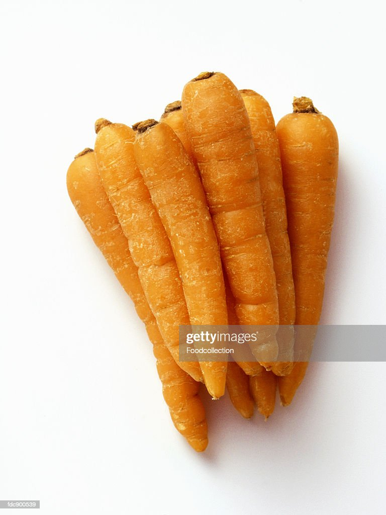 Carrots with Greens Removed : Stock Photo