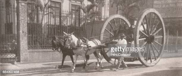 Carrying heavy goods under instead of above the axle 1914 From The Beautiful Rio De Janeiro by Alured Gray Bell [William Heinemann London 1914]...