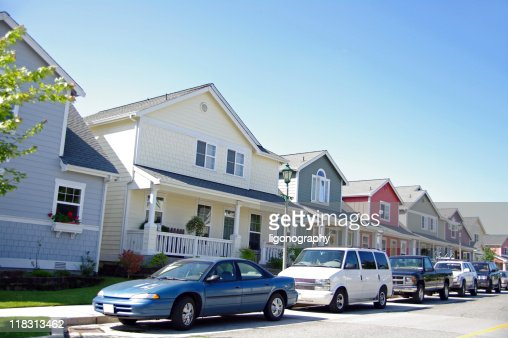 Cars and Homes : Stock Photo