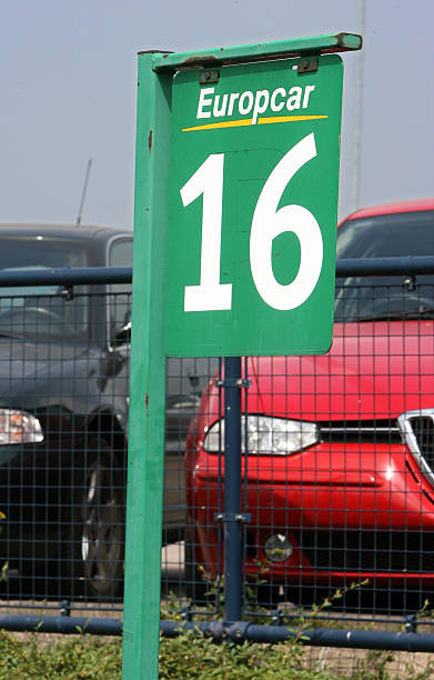 Cars Are Parked In A Europcar Rental Lot At London City Airp