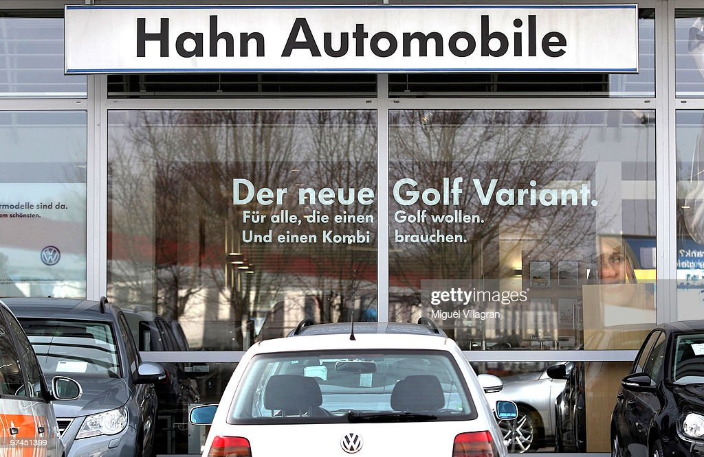 Cars are pictured in front of a car dealership on March 4, 2010 in Wendlingen, Germany. Tim Kretschmer opened fire on teachers and pupils at his former school on March 11, 2009, killing 15 and leaving many more injured, he also killed a man working at the cardealership. Kretschmer fled the scene and shot himself dead after being cornered by police.