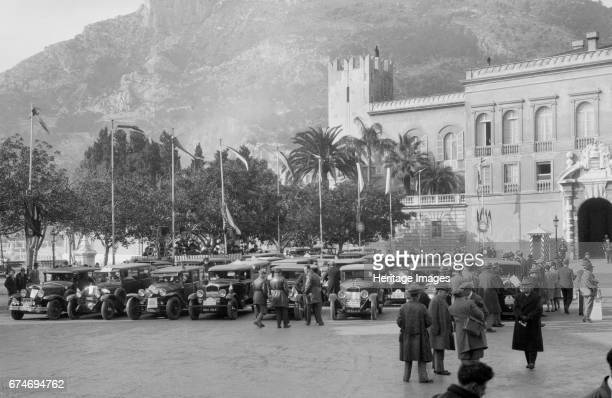 Cars at the Monte Carlo Rally Monaco 1929 Artist Bill Brunell