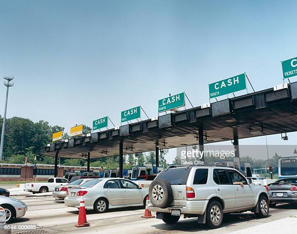 Cars at Toll Booth