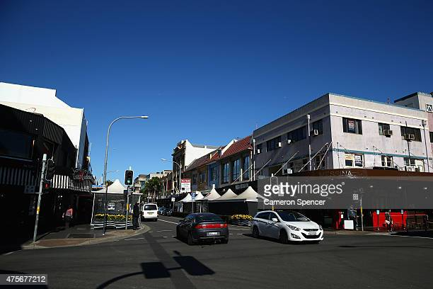 Cars cross Phillip Street in Parramatta on June 3 2015 in Sydney Australia Parramatta is about to become one of Australia's biggest urban renewal...