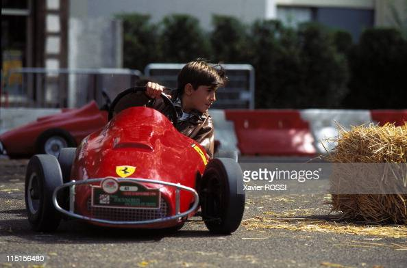 Cars for kids at '48 heures de Troyes' in Troyes France on September 15 1996 Ferrari F1 1950