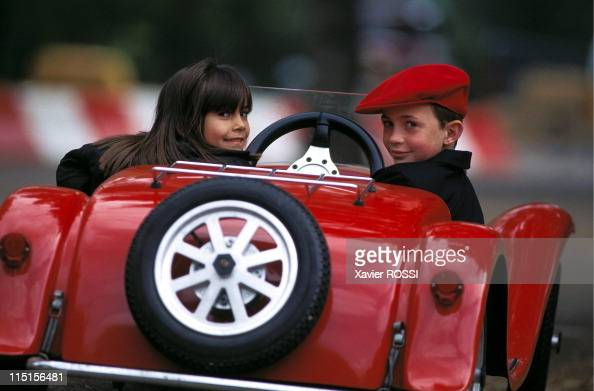 Cars for kids at '48 heures de Troyes' in Troyes France on September 15 1996 Bugatti