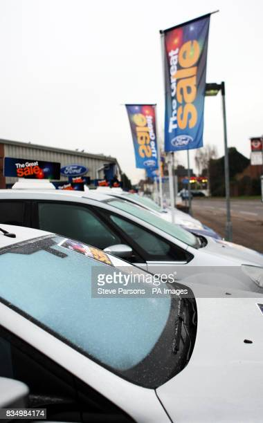 Cars go on sale at Dagenham Motors in Thames Ditton Surrey