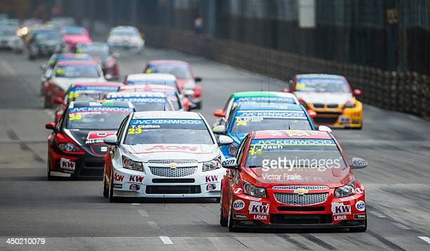 Cars in action during the FIA World Touring Car Championship as part of the 60th Macau Grand Prix on November 17 2013 in Macau Macau