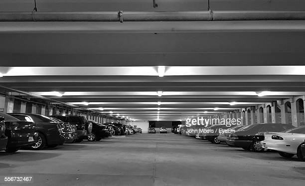 Cars Parked In Subway