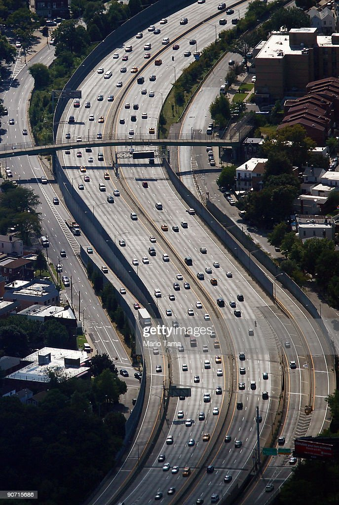 Cars pass along a highway September 13, 2009 in the Queens borough of New York City.