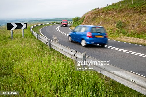 Cars Passing on a Corner