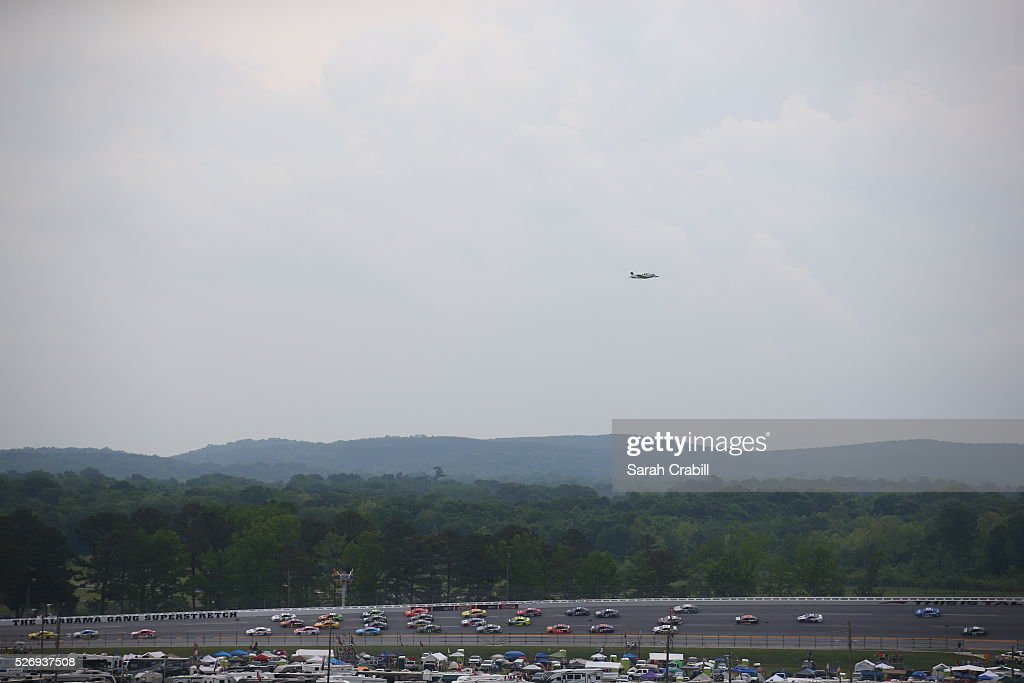 Cars race during the NASCAR Sprint Cup Series GEICO 500 at Talladega Superspeedway on May 1, 2016 in Talladega, Alabama.