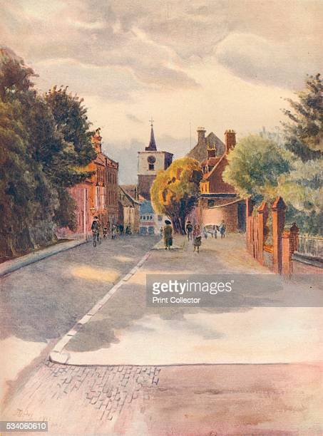 Carshalton' from 'A Pilgrimage In Surrey Vol 2' by James S Ogilvy 1914 Carshalton London Borough of Sutton