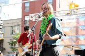 Carson Cox of Merchandise performs on day 3 of Northside Festival on June 13 2015 in Brooklyn United States