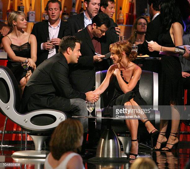 Carson Daly and Jennifer Love Hewitt during MTV Bash Carson Daly at Hollywood Palladium in Hollywood California United States