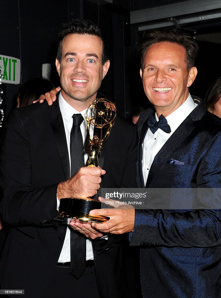 Carson Daly and Mark Burnett at the 65th Primetime Emmy Awards, which will be broadcast live across the country 8:00-11:00 PM ET/ 5:00-8:00 PM PT from NOKIA Theater L.A. LIVE in Los Angeles, Calif., on Sunday, Sept. 22 on the CBS Television Network.