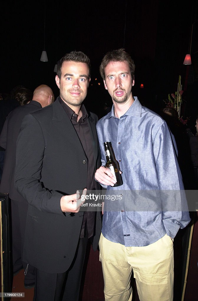<a gi-track='captionPersonalityLinkClicked' href=/galleries/search?phrase=Carson+Daly&family=editorial&specificpeople=202941 ng-click='$event.stopPropagation()'>Carson Daly</a> and <a gi-track='captionPersonalityLinkClicked' href=/galleries/search?phrase=Tom+Green&family=editorial&specificpeople=208982 ng-click='$event.stopPropagation()'>Tom Green</a> during 2000 MTV Movie Awards at Sony Studios in Culver City, California, United States.