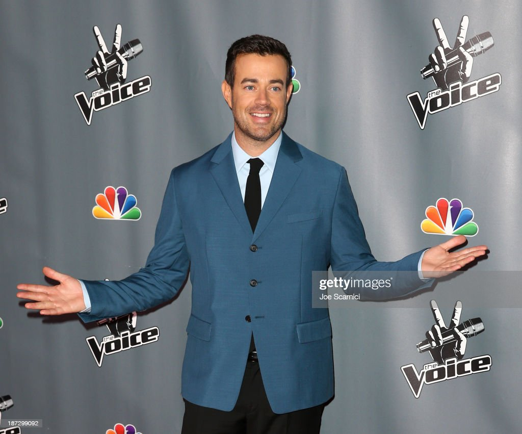 Carson Daly arrives to the 'The Voice' Season 5 Top 12 Event at Universal Studios Hollywood on November 7, 2013 in Universal City, California.