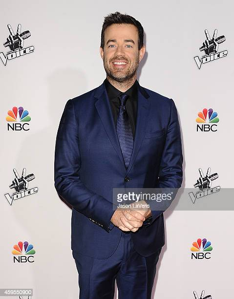 Carson Daly attends NBC's 'The Voice' season 7 red carpet event at Universal CityWalk on November 24 2014 in Universal City California