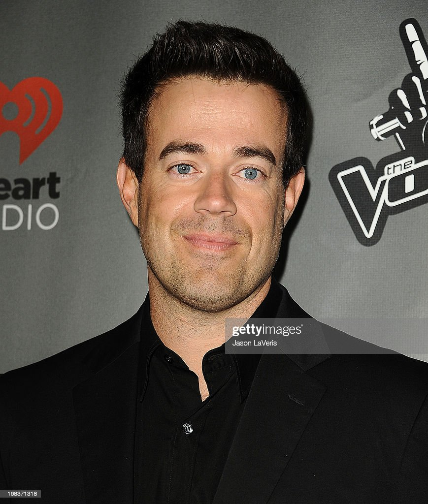 <a gi-track='captionPersonalityLinkClicked' href=/galleries/search?phrase=Carson+Daly&family=editorial&specificpeople=202941 ng-click='$event.stopPropagation()'>Carson Daly</a> attends 'The Voice' season 4 premiere at House of Blues Sunset Strip on May 8, 2013 in West Hollywood, California.
